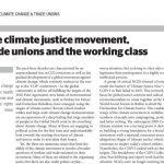 気候正義を求める運動と労働組合および労働者階級 マルク・ベルグフェルド